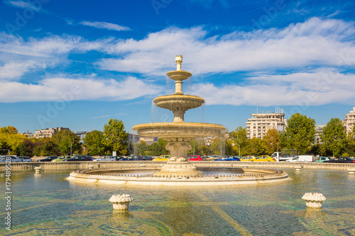 Central fountain in Bucharest