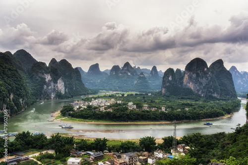 Foto op Canvas Guilin The xingping viewpoint