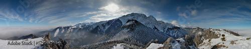 Keuken foto achterwand Panoramafoto s Giewont panorama Sarnia Skała