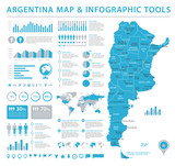 Argentina Info Graphic Map - Vector Illustration - 179520942