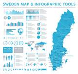 Sweden Map - Info Graphic Vector Illustration - 179521575