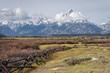 View of the Grand Teton Mountain Range