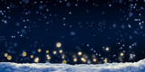 Fototapety schneefall, nachthimmel, lichter, winterlicher hintergrund