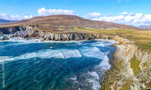 Keuken foto achterwand Donkergrijs beautiful rural irish country nature landscape from the north west of ireland. scenic achill island along the wild atlantic way. famous irish tourism attraction.