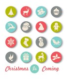 Christmas Icon  Wall Sticker