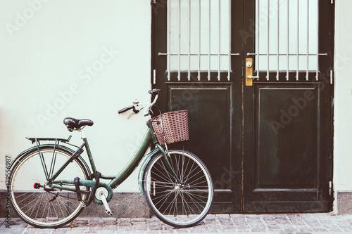 Deurstickers Fiets Vintage bicycle