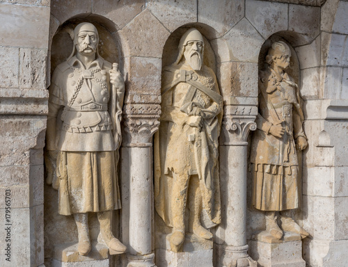 The guardians of the famous Fisherman's Bastion on the Buda hill Poster