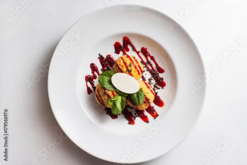 Fridge magnet food photography creative restaurant dessert recipe concept