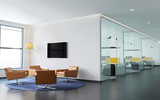 Contemporary modern offices interior with lounge  - 179570170