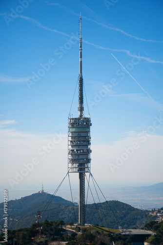 Aluminium Barcelona TV Tower in Spain