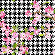 Blooming Spring Flowers Pattern Background. Seamless Fashion Print in vector - 179577330