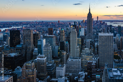 Colors of the skyline in NYC, USA Poster