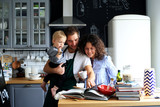 Young family preparing lunch in the kitchen - 179589947