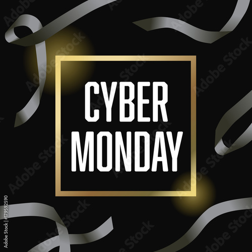 Cyber Monday Ribbon Vector Illustration 1