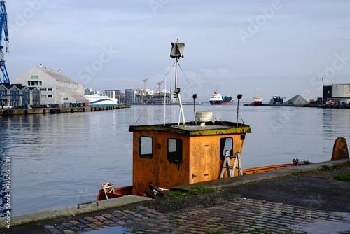 århus harbour in sunshine after rain Poster