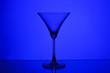 Leinwanddruck Bild - silhouette of a glass