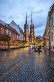 Ostrów Tumski, a historic district of Wroclaw with medieval churches.