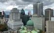 Dorchester Square con nuvole, Montréal, Québec, Canada