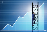 Businessman in economic recovery concept