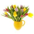 Mixed bouquet tulips in vase - 179621938