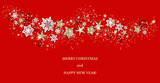 Holiday red decor card