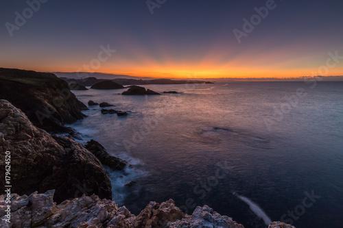 Foto op Canvas Zee zonsondergang Rayos del Ocaso!