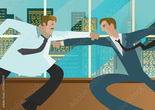 office coworkers fighting - 179643978
