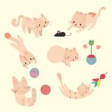 cute cats.vector set