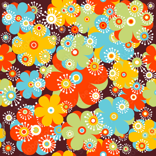 Childish floral background - 179652591