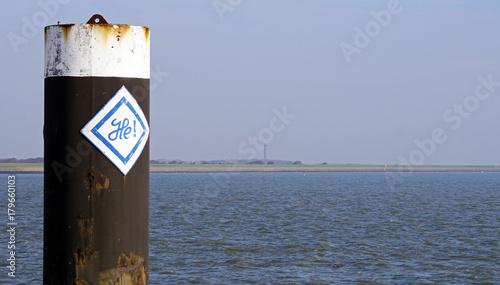 Poster Noordzee am Hafen von Norderney