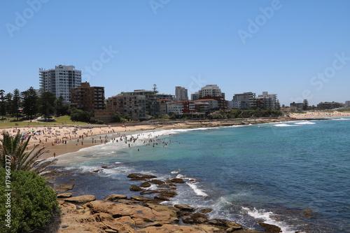 Foto op Plexiglas Sydney Cronulla Beach in Sydney Australia in summer