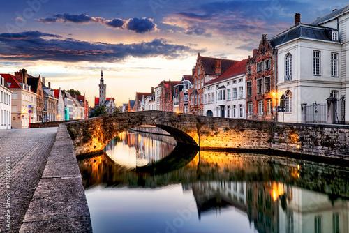 Aluminium Brugge Bruges cityscape, Belgium