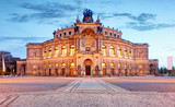 Semperoper opera building at night in Dresden - 179669377