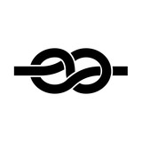 Knot it is black icon . - 179672524
