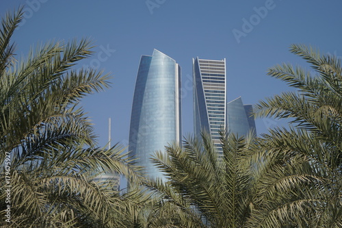 Foto op Canvas Abu Dhabi Etihad Towers in Abu Dhabi