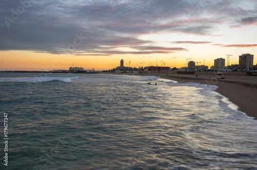 Aluminium Barcelona The coast of Mediterranean sea