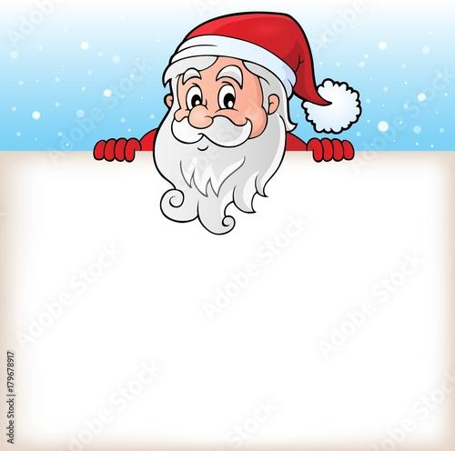 Papiers peints Enfants Lurking Santa Claus with copyspace 6