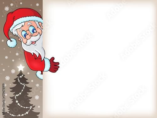 Papiers peints Enfants Lurking Santa Claus with copyspace 5