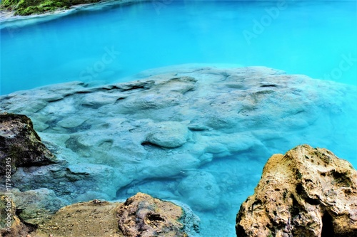 Foto op Canvas Turkoois the blue river, Natural Park Urbasa, Urederra River, Navarra, spain