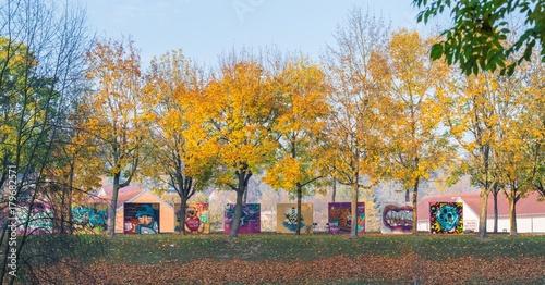 Fotobehang Graffiti Free Walls for graffiti sprayer in Regensburg, Germany