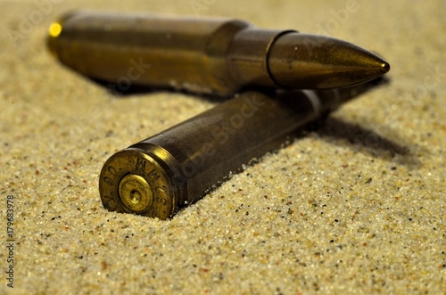 naboje w piasku