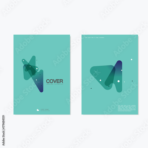 Fotobehang Abstractie Abstract Cover Brochure Design / Vector Geometry Shape Abstract Background