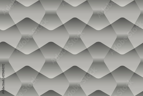 Seamless abstract gray pattern with geometric 3d forms. Vector texture for your design - 179684392