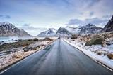 Droga w Norwegii na Lofotach