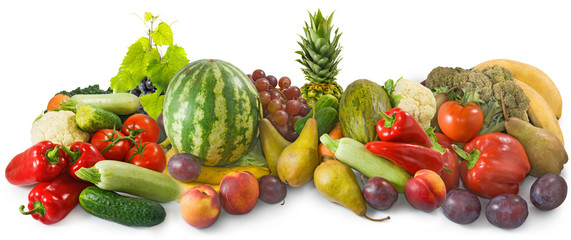 image of a lot of fruits and vegetables close-up