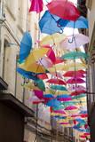 Umbrellas in a street of Avignon, France - 179704108