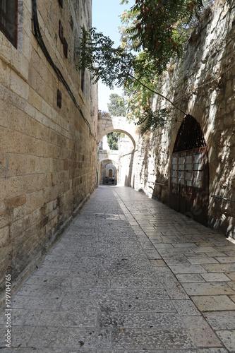 Poster Smal steegje Jerusalem Old City