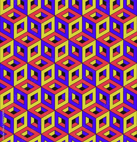 Vibrant colored seamless geometric pattern.