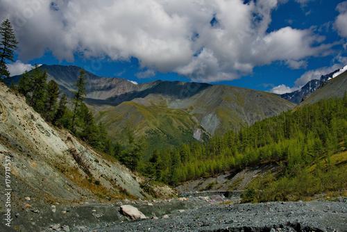 Fotobehang Grijs The highest mountain of Siberia