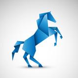 koń origami wektor